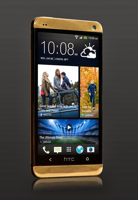 The Gold HTC One 18ct Officially Reveal in Europe Worth £2,750