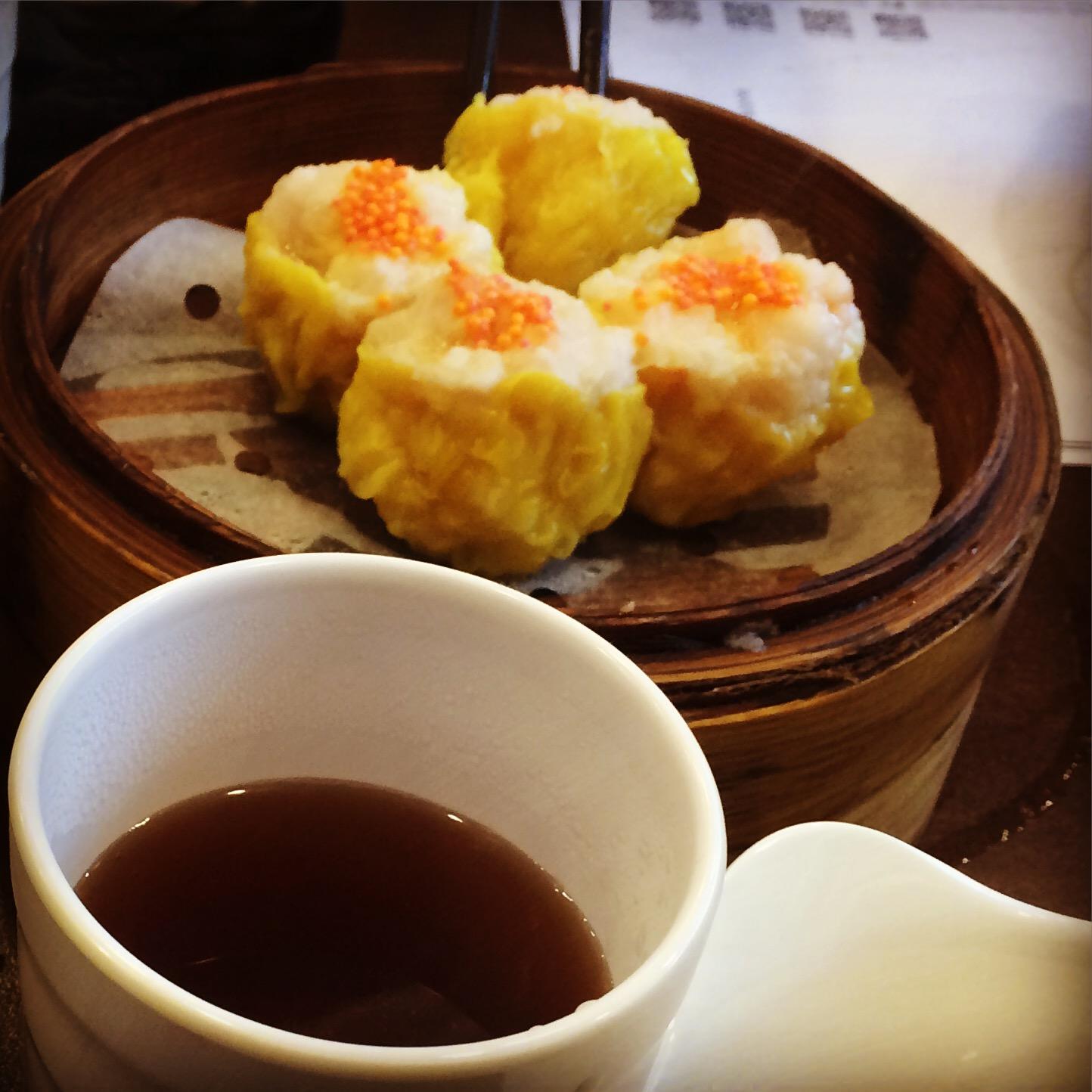 dumplings med rejer