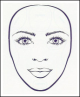 how to draw a heart shaped face