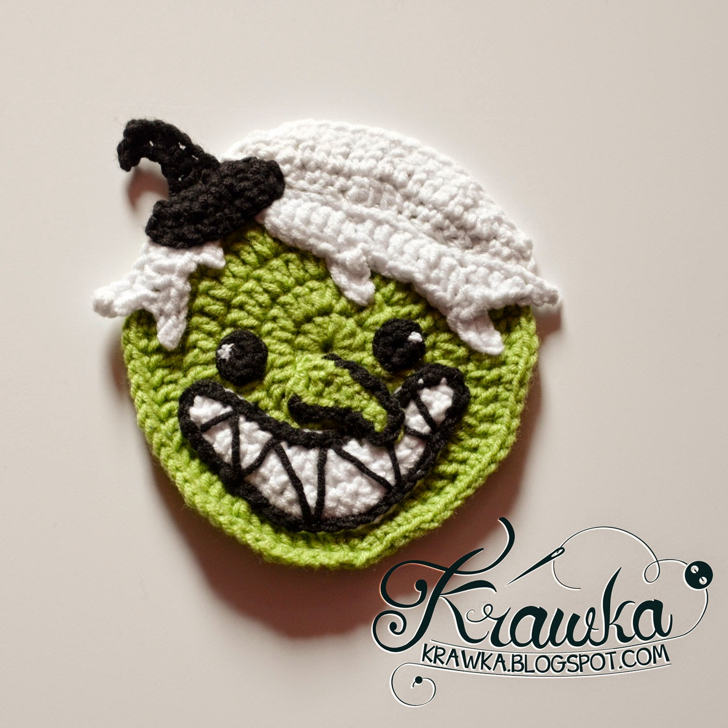 Halloween Coasters - Wicked Witch pattern