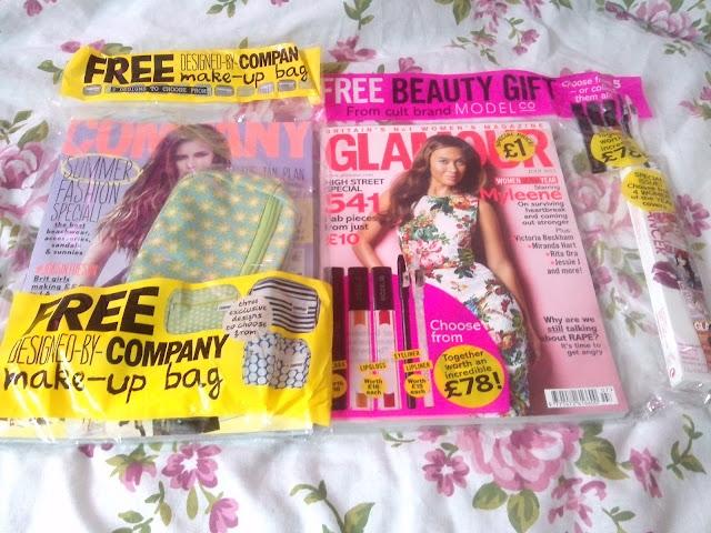 magazine freebies glamour makeup company blogger