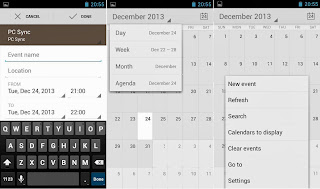 SKK Mobile Mirage S1 Calendar