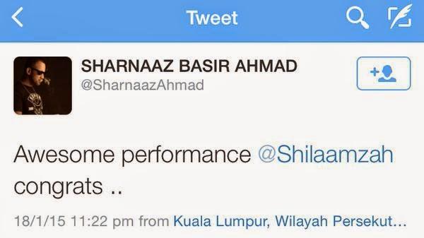 Komen Ikhlas Sharnaaz Ahmad Di Balas Oleh Shila Amzah