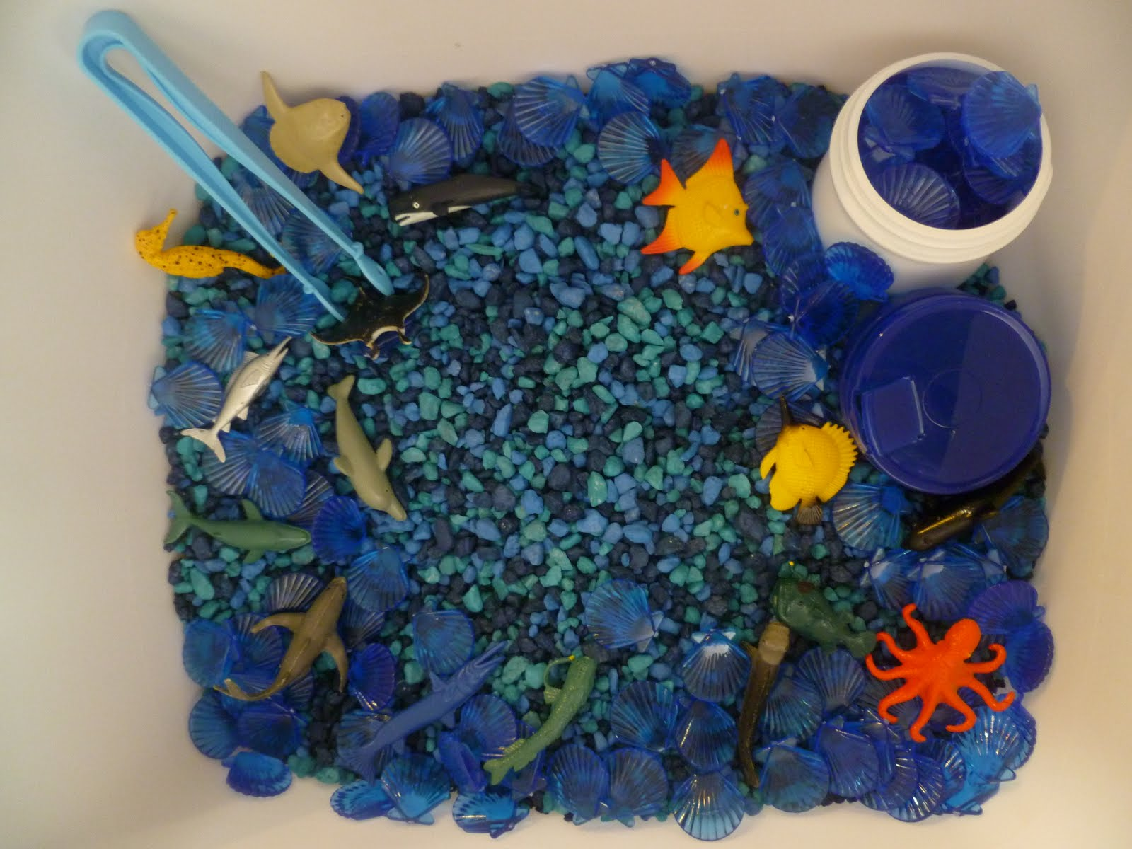Ocean Sensory Bin Perfect For Fine Motor Skills