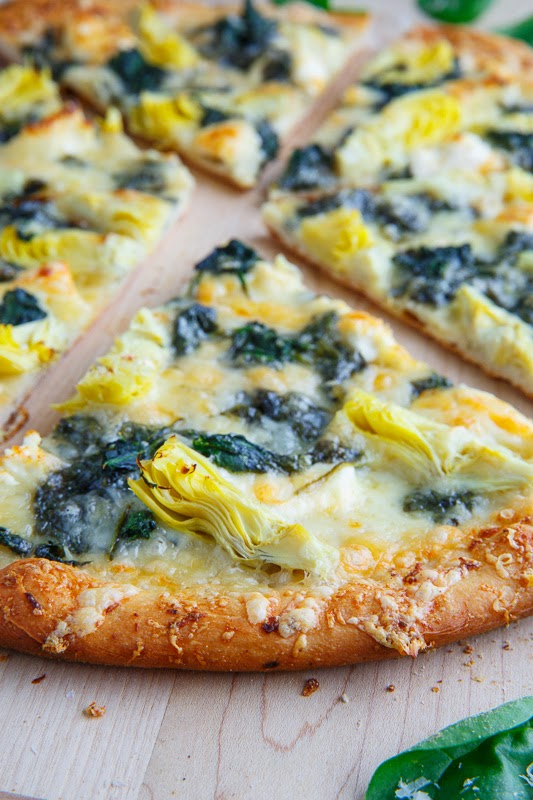 Spinach and Artichoke Dip Pizza