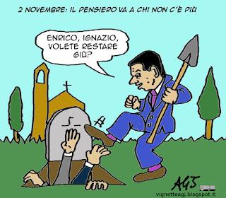Renzi, letta, marino, congiure, 2 novembre, satira vignetta