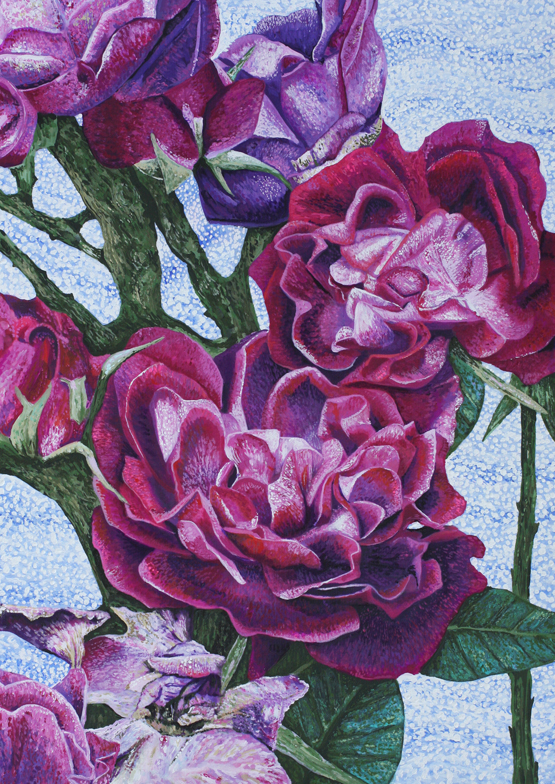 Rozartz contemporary floral paintings paintings of roses mightylinksfo