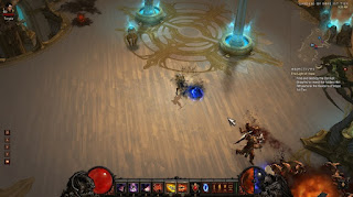 Demon Hunter fighting her way through the high heavens in Diablo III