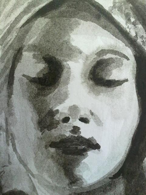 mujer a tinta china