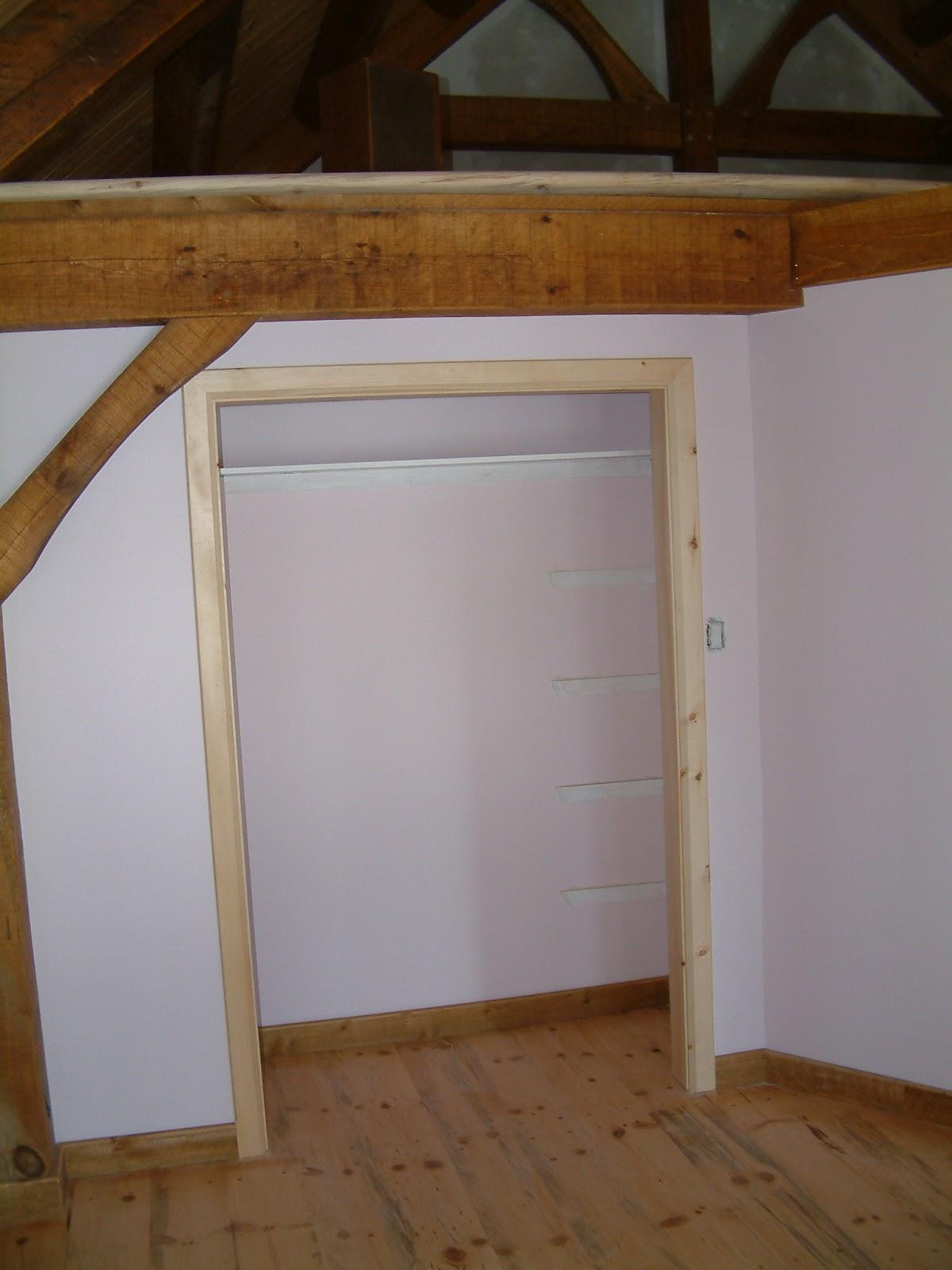 Le projet timber frame de c line et pierre timberframe for Cadre de fenetre
