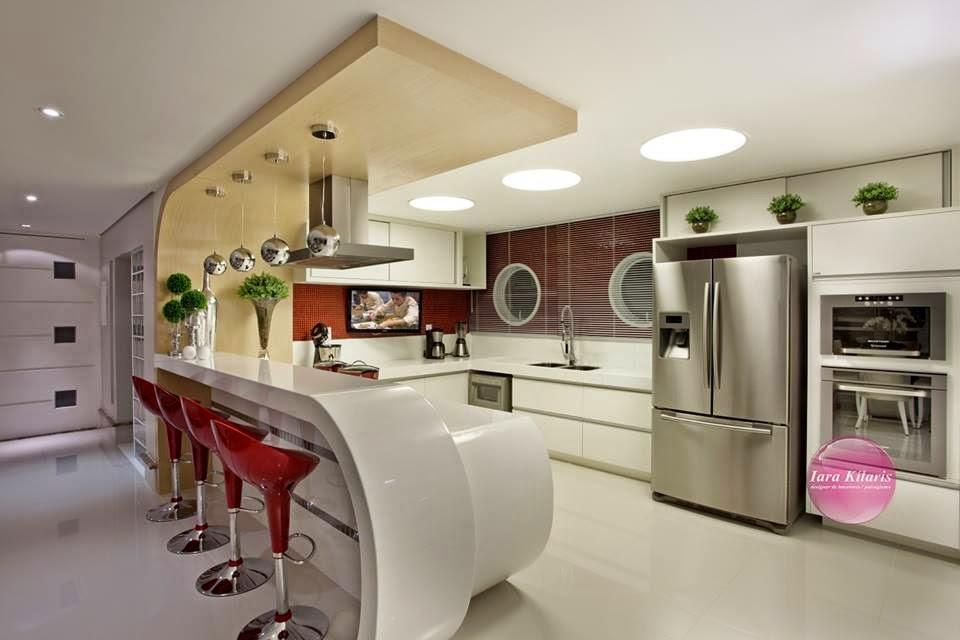 Construindo minha casa clean 21 cozinhas americanas - Bancadas de cocina ...