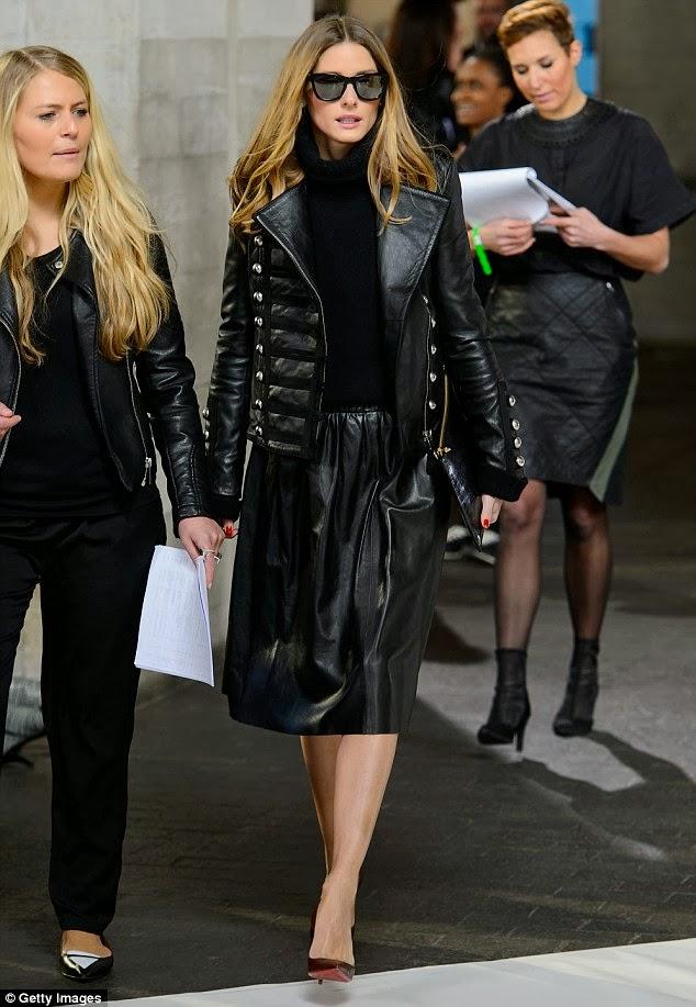 The Olivia Palermo Lookbook London Fashion Week 2014 Olivia Palermo At Pringle Of Scotland