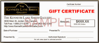 http://www.kennethlanesmithgallery.com/GiftCertificate.html