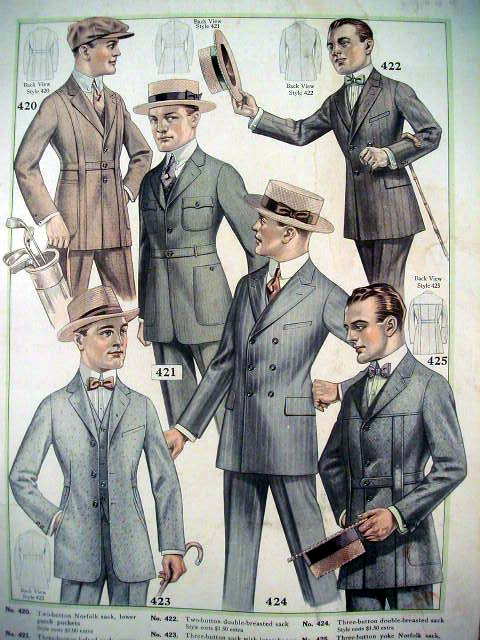 s Men's fashion s Men's Suiting. Neutral suits were popular, but the colours that a man would elect to wear reflected more than just his tonal preference.