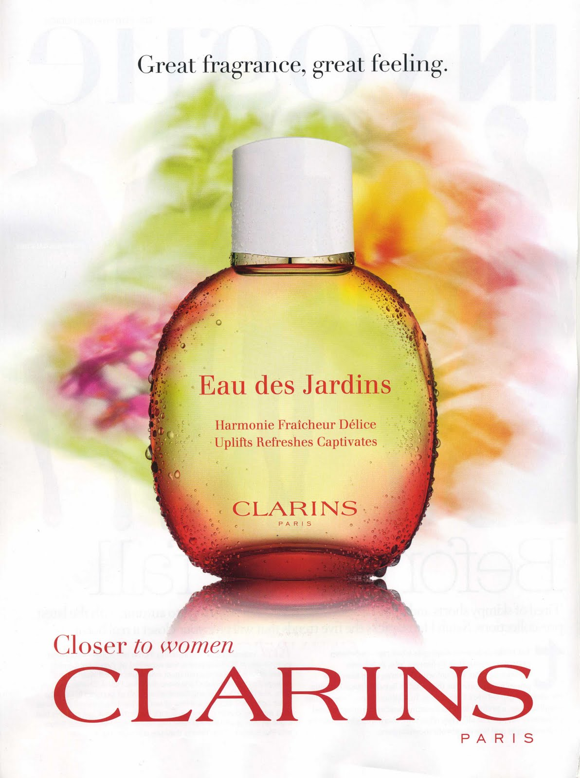 ranking de cosmeticos clarins eau des jardins. Black Bedroom Furniture Sets. Home Design Ideas