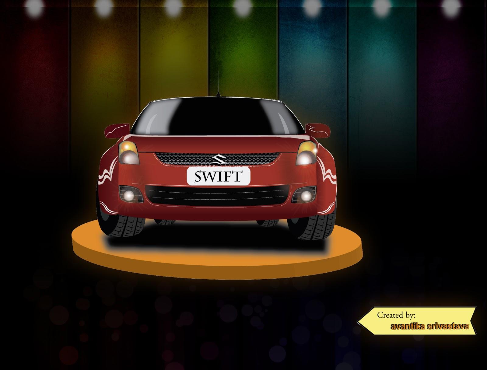 Galaxy Design Quot Swift Quot Car On Illustrator