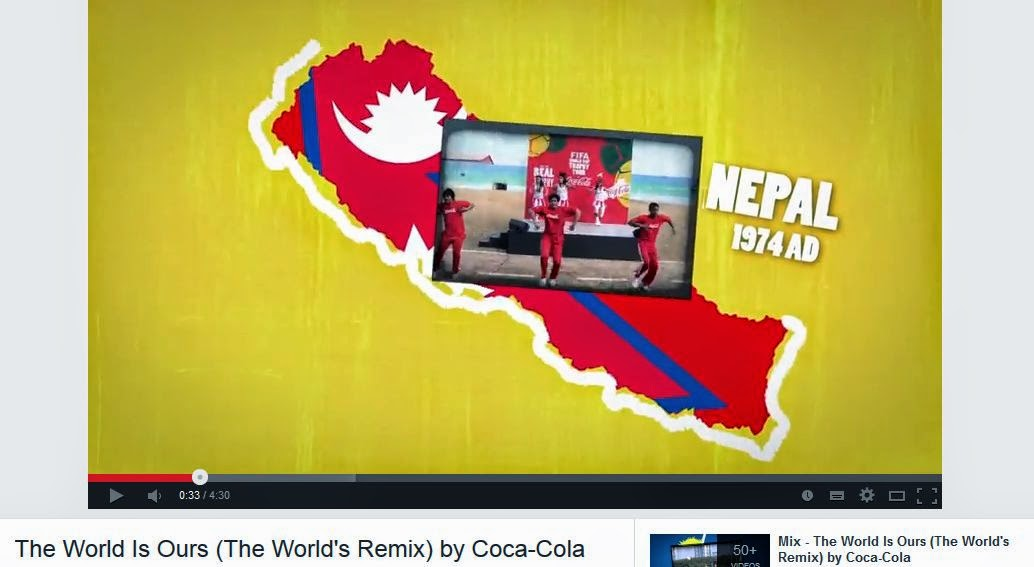 1974 A.D. Nepali Band in World Cup 2014 Brasil Song Remixed by Coca-Cola, The world is ours.
