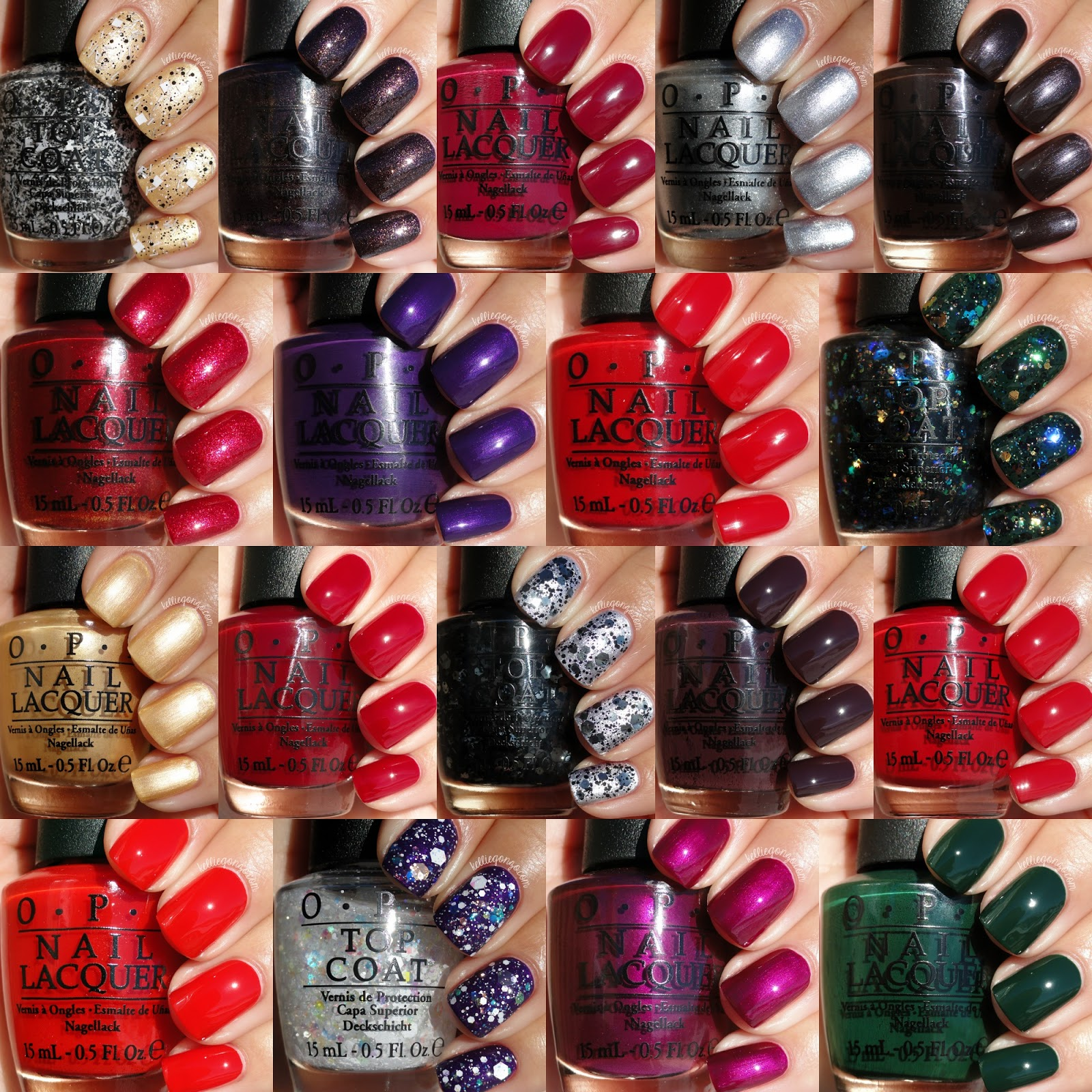 OPI Holiday 2014 Gwen Stefani Collection Swatches Review