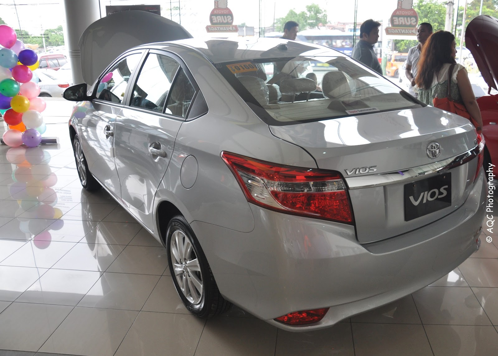 Toyota vios 2013 g highend has a chrome trunk garnish