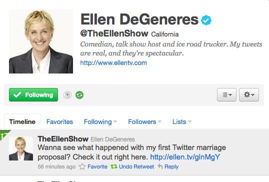 Ellen show online dating