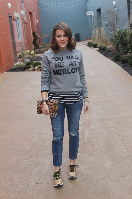 Bow & Drape's You Had Me At Merlot Sweatshirt- on www.glitterandgingham.com