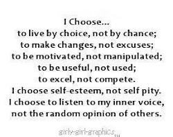 I Choose . . .