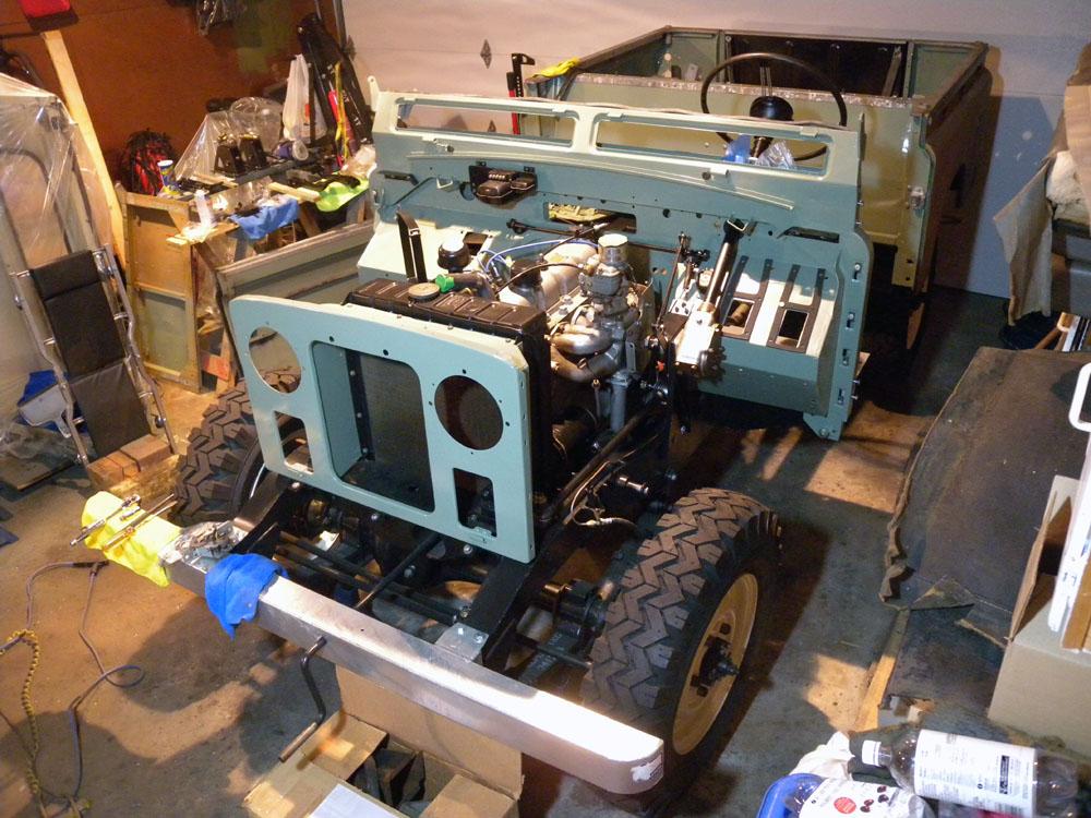 DSCN2556s 1960 land rover restoration 'breakfast', radiator installed  at gsmx.co