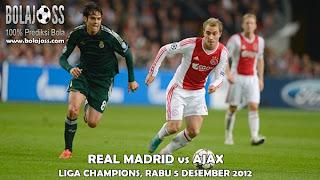 Prediksi Skor Real Madrid vs Ajax