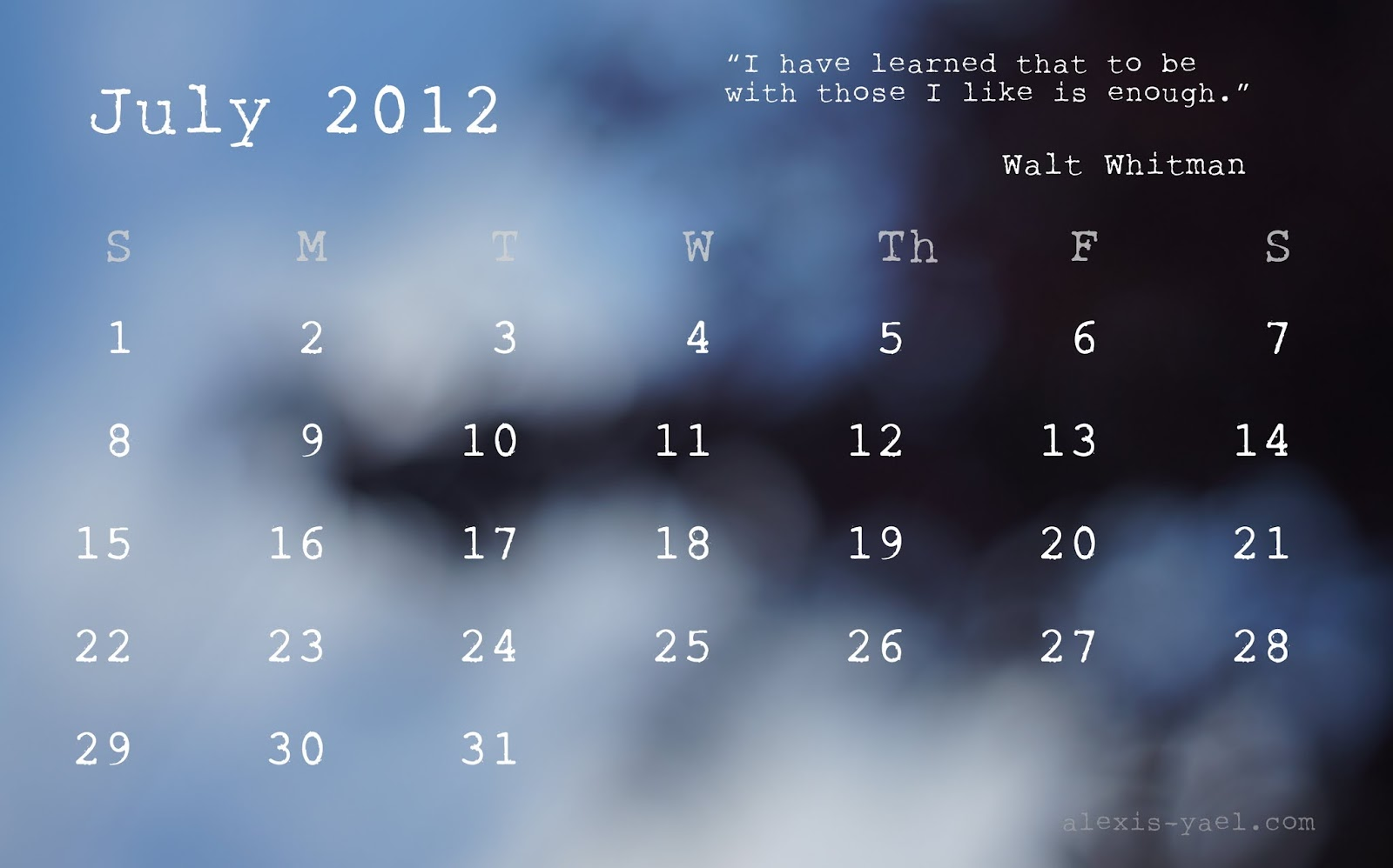 Weekly Calendar Desktop : My monthly desktop calendar