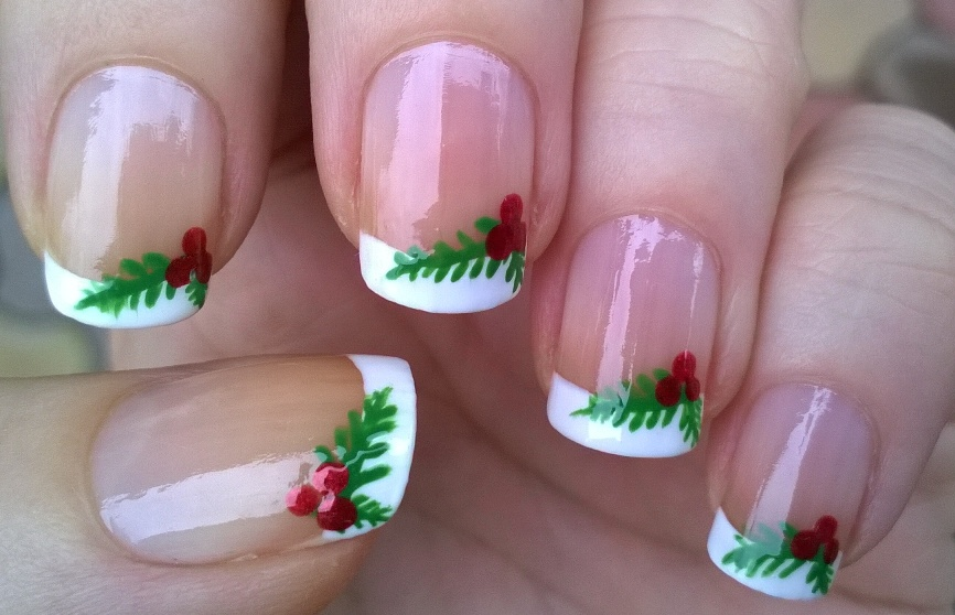 Life World Women: Christmas French Manicure Inspired By Mistletoe