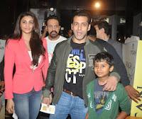 Salman Khan at the screening of 'Sholay 3D'