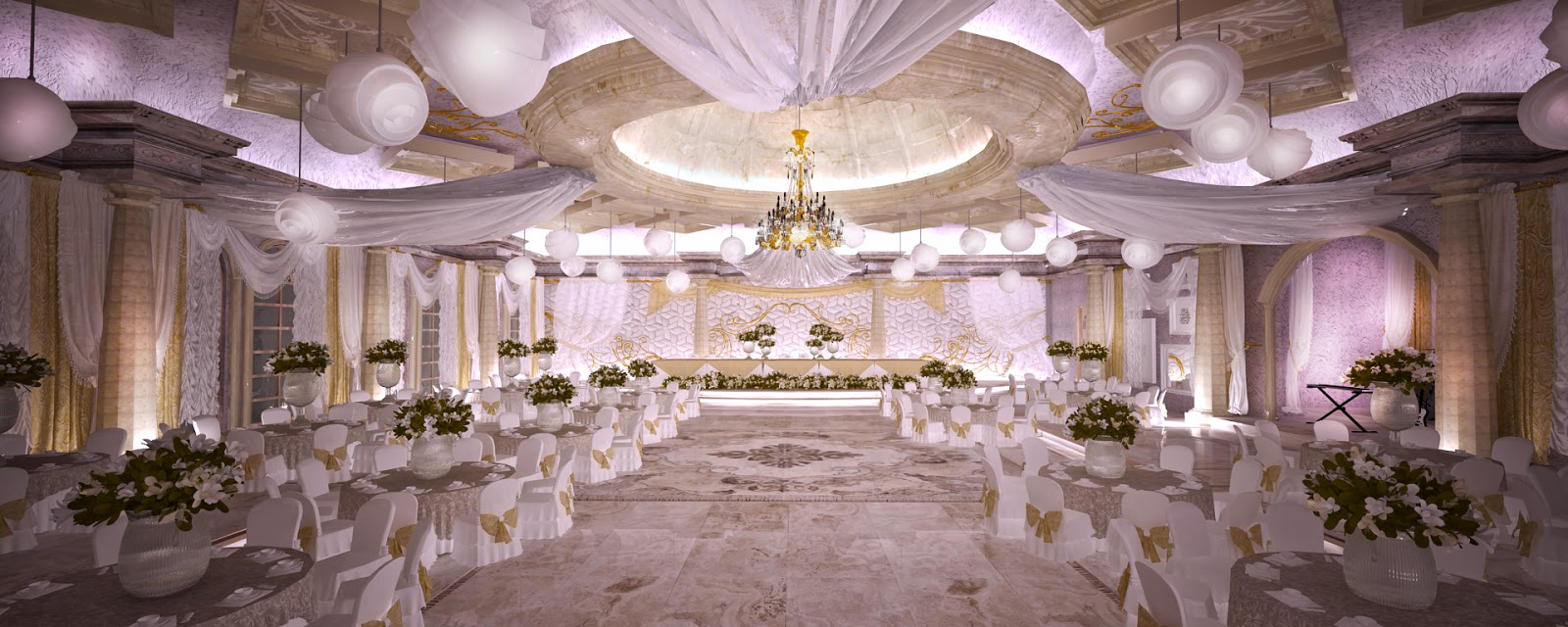 Classical elegant wedding room decor and project by Decoration for wedding room
