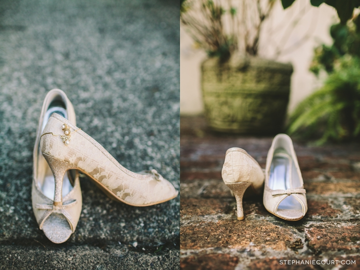 """ivory lace vintage wedding shoes"""