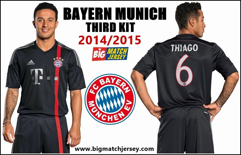 Jersey Nwe Bayern Munchen 2015 Third Kit Thiago Foodball Club
