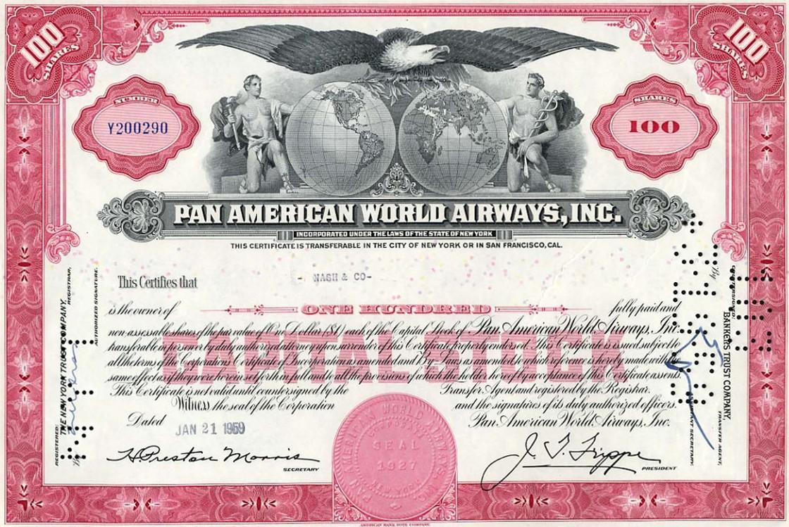 an analysis of the pan american world airways inc corporation in new york World airline survey oakland,  of the new york service, discontinued in 1963  pan american world airways inc was.