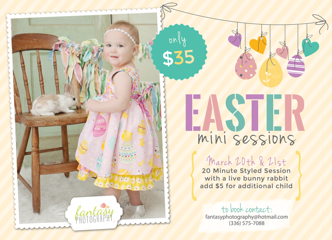child photographers in winston salem nc | easter bunny rabbit sessions winston salem
