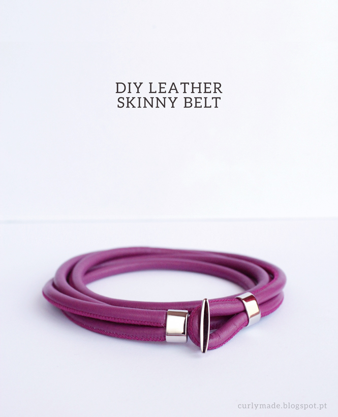 How to make: DIY Leather Skinny Belt - Curly Made.blogspot.pt #crafts #diy #tutorial #belt #fashion #style