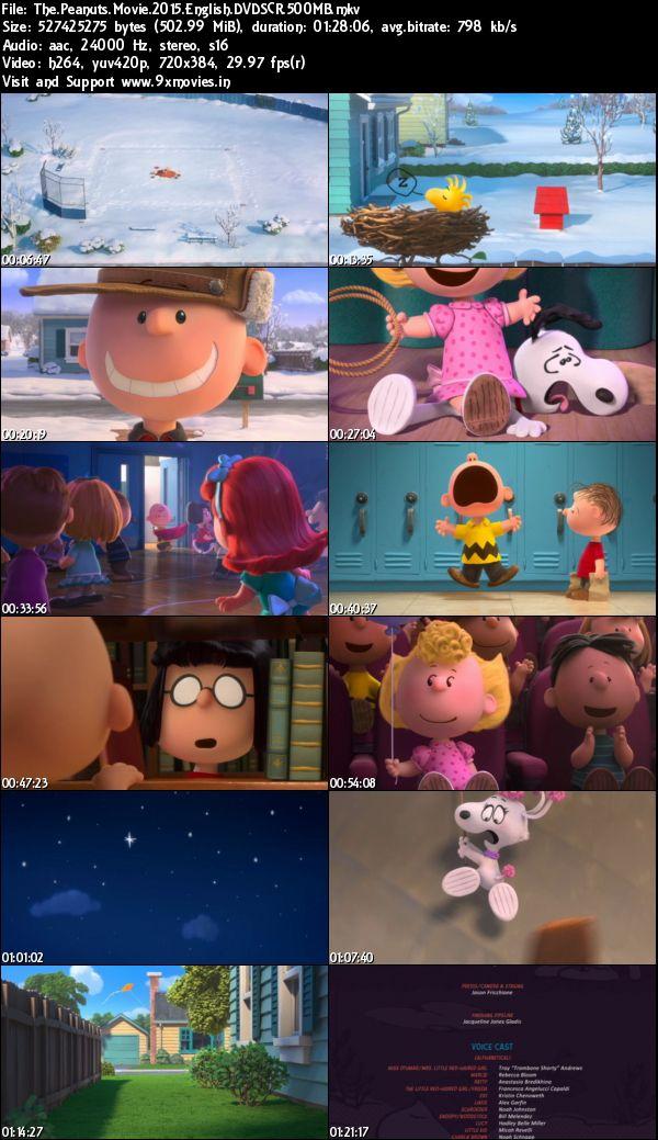 The Peanuts Movie 2015 English DVDScr 500MB