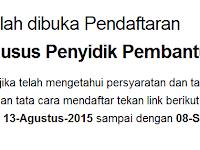 Situs / Web Pendaftaran POLRI tidak bisa dibuka