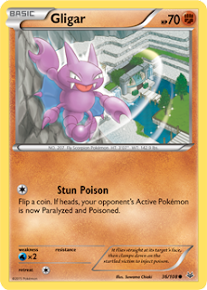 Gligar Roaring Skies Pokemon Card