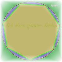 Heptágono Regular. Circunferência dividida em sete partes iguais.