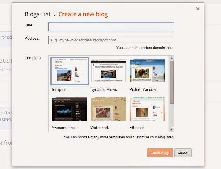Cara Membuat Blog Gratis