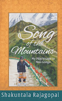 http://www.amazon.com/Song-Mountains-Pilgrimage-Maa-Ganga/dp/193644982X/ref=sr_1_2?ie=UTF8&qid=1441559666&sr=8-2&keywords=shakuntala+rajagopal