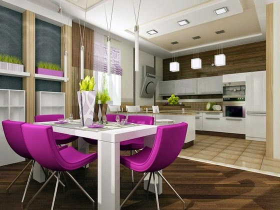 Small Apartment Kitchen Ideas Modern With Floor Tiles And Dining Room Covering By Carpet