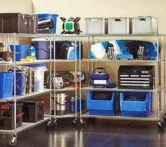 Garage shelving with casters and wheels