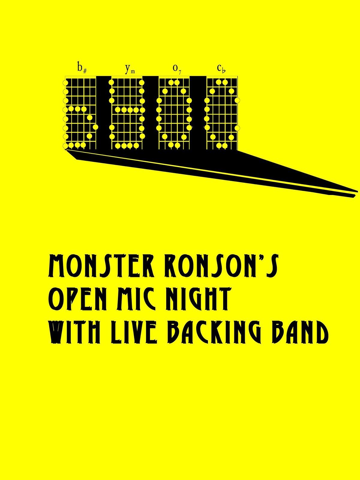 Monster Ronsons Ichiban Karaoke Byoc Bring Your Own Chords