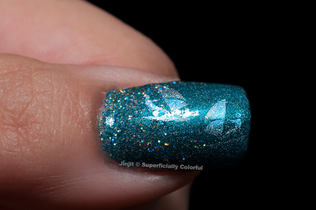 China Glaze Techno Teal Nail Venturous Lacquer Well Holo There!