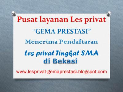 Info guru dan biaya les privat sma di bekasi
