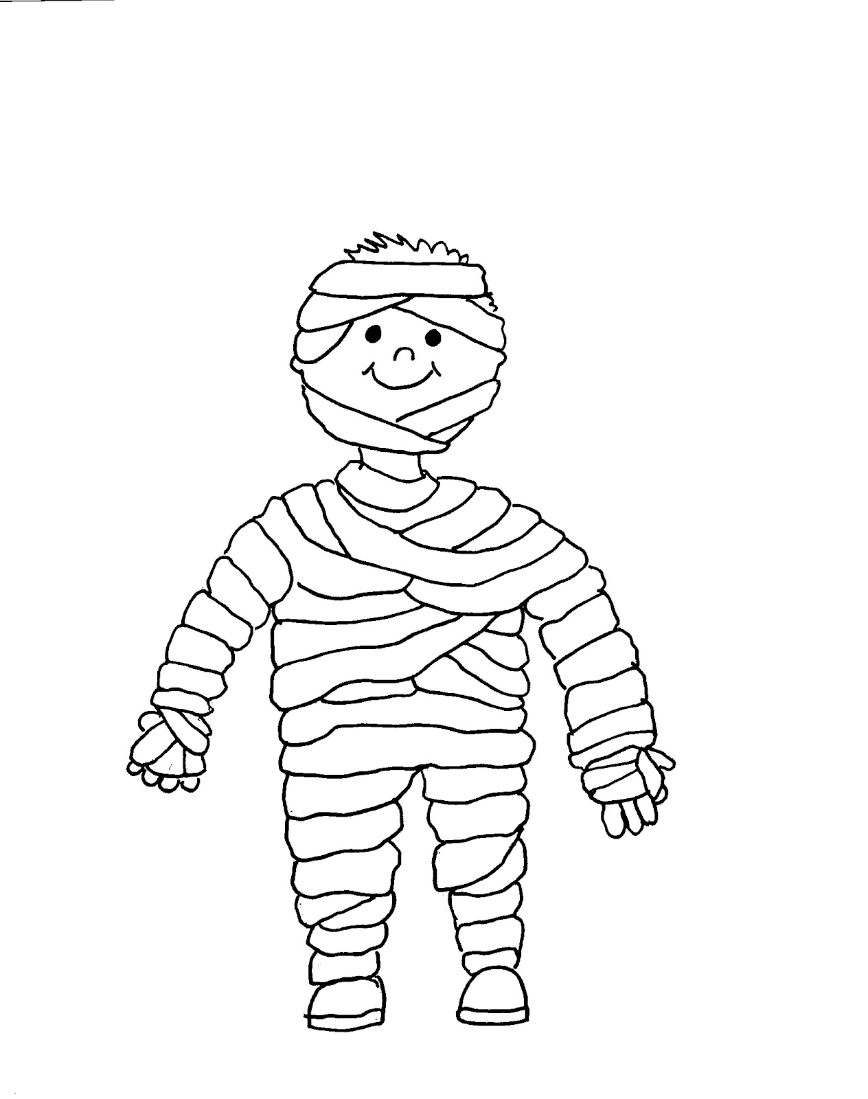 halloween coloring pages - Ancient Egypt Mummy Coloring Pages