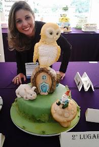 """Concurso Internacional """"Sugar craft show"""" 2013 Medalha de Prata"""